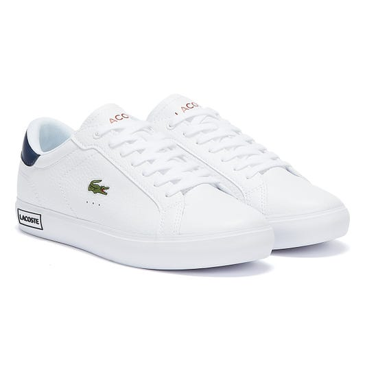 Lacoste Powercourt 721 2 Mens White / Navy / Red Trainers