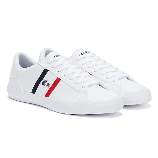 Lacoste Lerond Tri 1 Mens White / Navy / Red Trainers