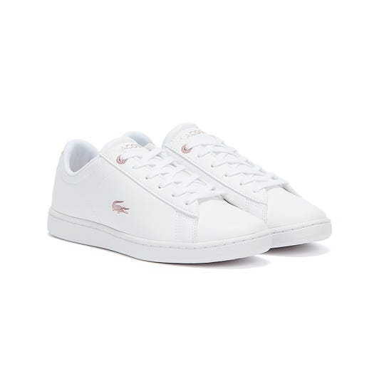Lacoste Carnaby Evo 921 1 Junior White / Light Pink Trainers