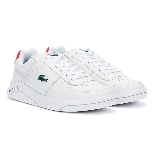 Lacoste Game Advance 721 2 Mens White / Navy / Red Trainers