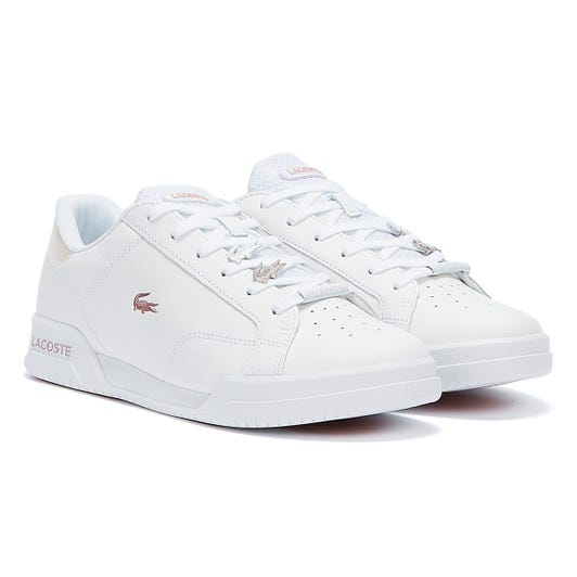Lacoste Twin Serve 921 1 Womens White / Light Pink Trainers