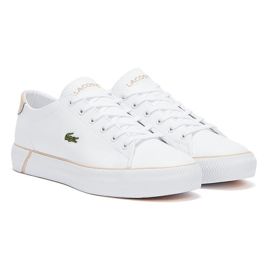 Lacoste GripShot Womens White / Light Pink Trainers