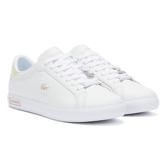 Lacoste Powercourt 921 1 Womens White / Light Pink Trainers