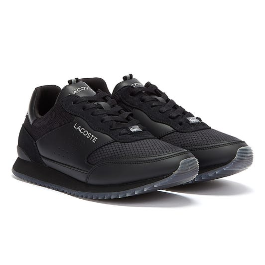 Lacoste Partner Luxe Mens Black Trainers