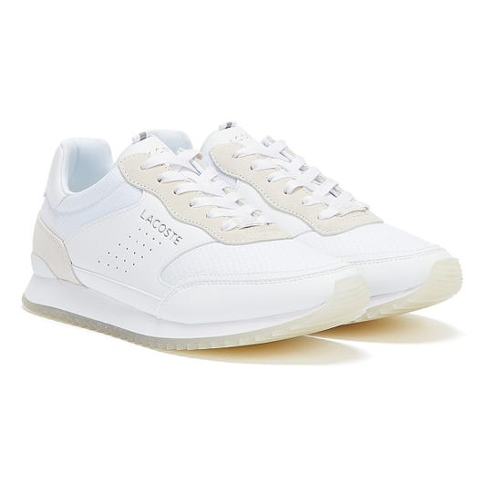 Lacoste Partner Luxe Mens White Trainers