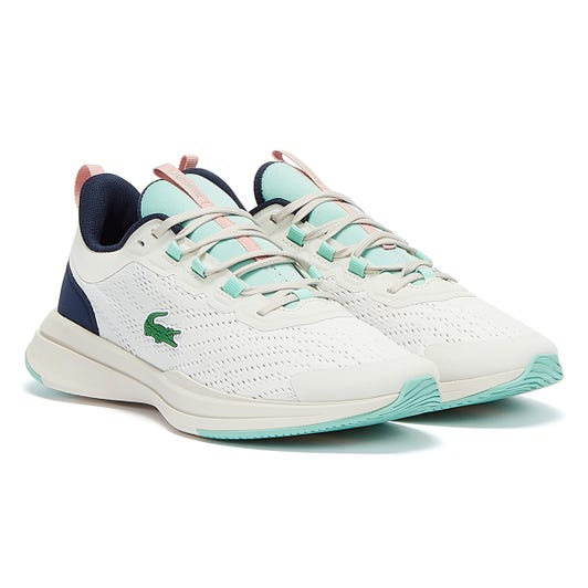 Lacoste Run Spin Womens Off White / Light Blue Trainers