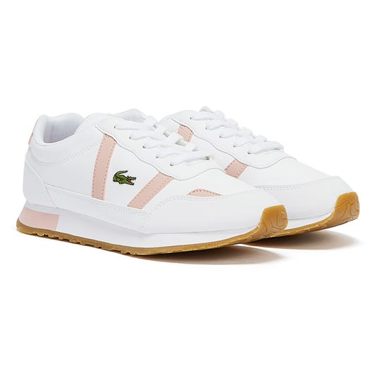 Lacoste Partner Junior White / Light Pink Trainers