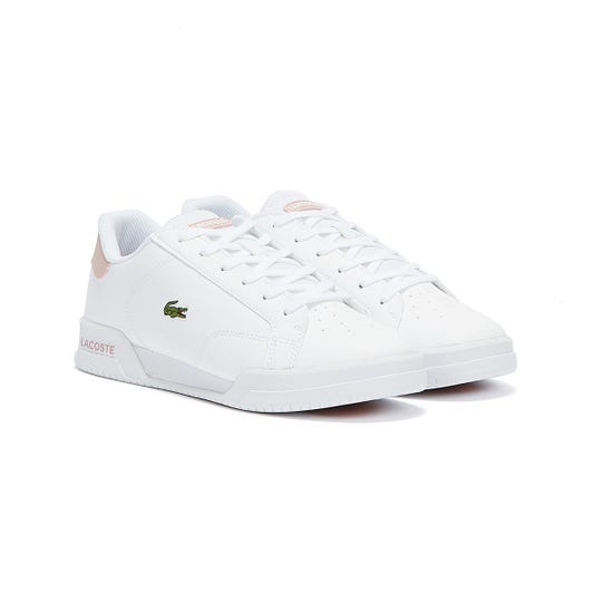 Lacoste Twin Serve Junior White / Light Pink Trainers
