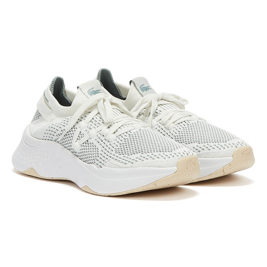 Lacoste Court Drive Knit 321 1 Womens Off White / Dark Green Trainers