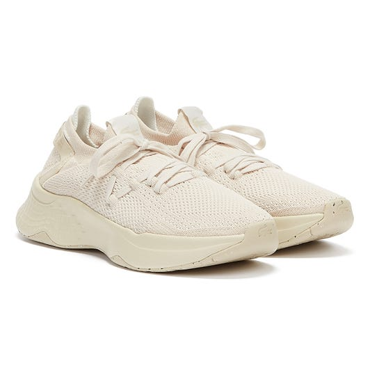 Lacoste Court Drive Knit 321 1 Womens Off White / Off White Trainers
