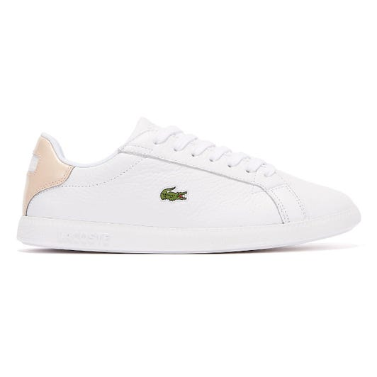 Lacoste Graduate 120 1 Womens White / Pink Trainers