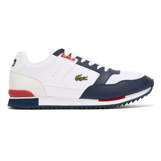 Lacoste Partner Piste 120 1 Mens White / Navy Trainers