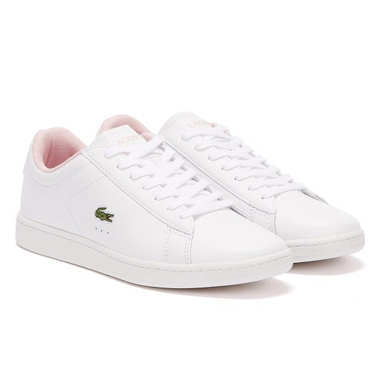 Lacoste Carnaby Evo 120 5 Womens White / Light Pink Trainers
