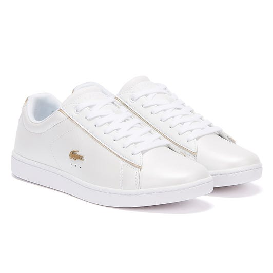 Lacoste Carnaby Evo 118 6 Womens White / Gold Trainers