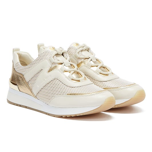 Michael Kors Pippin Womens White / Gold Trainers