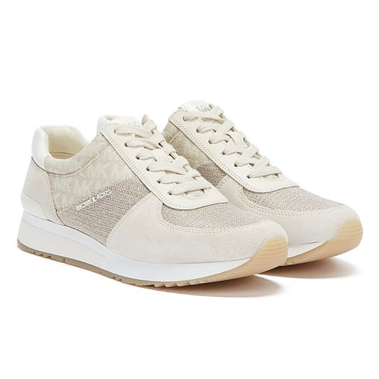 Michael Kors Allie Suede Womens White Trainers