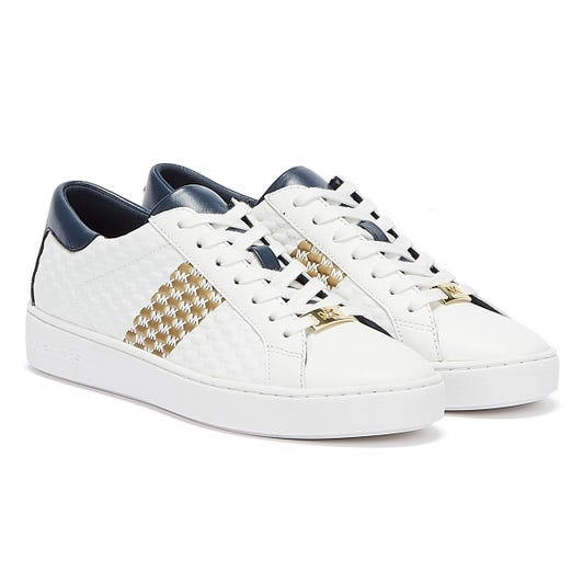 Michael Kors Colby Womens White / Navy Trainers