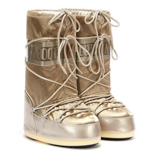 Moon Boots Classic Icon Glance Womens Platinum Boots