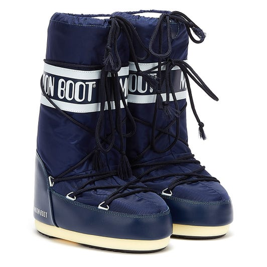 Moon Boot Classic Icon Nylon Womens Blue Boots