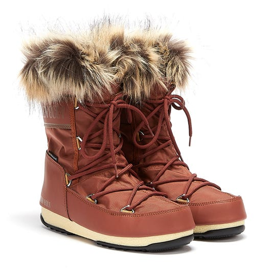 Moon Boot Monaco Low 2 Womens Rust Boots