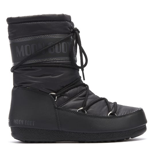 Moon Boot Nylon Mid Womens Black Boots
