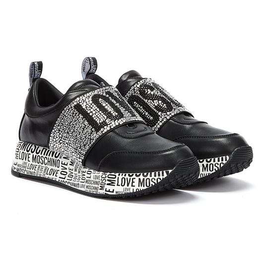 Love Moschino Daily Running Womens Black / Silver Trainers