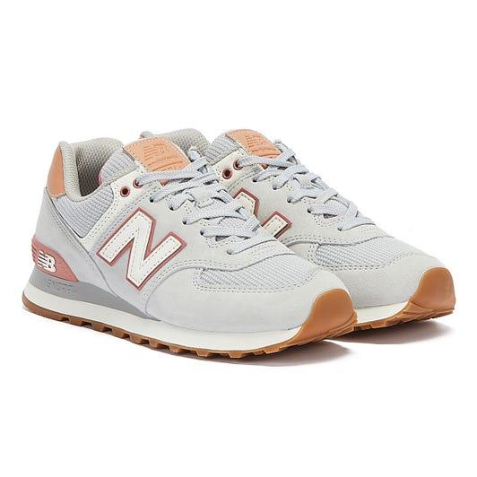 New Balance 574 Womens Grey / Pink Trainers