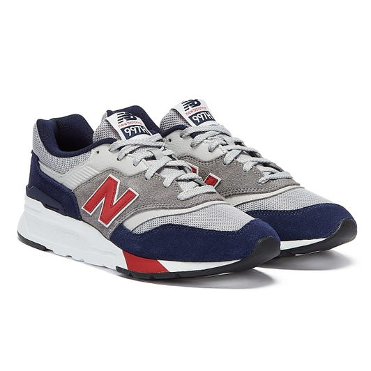 New Balance 997H Mens Grey / Navy / Red Trainers