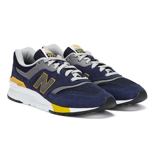 New Balance 997H Mens Navy / Mustard Trainers