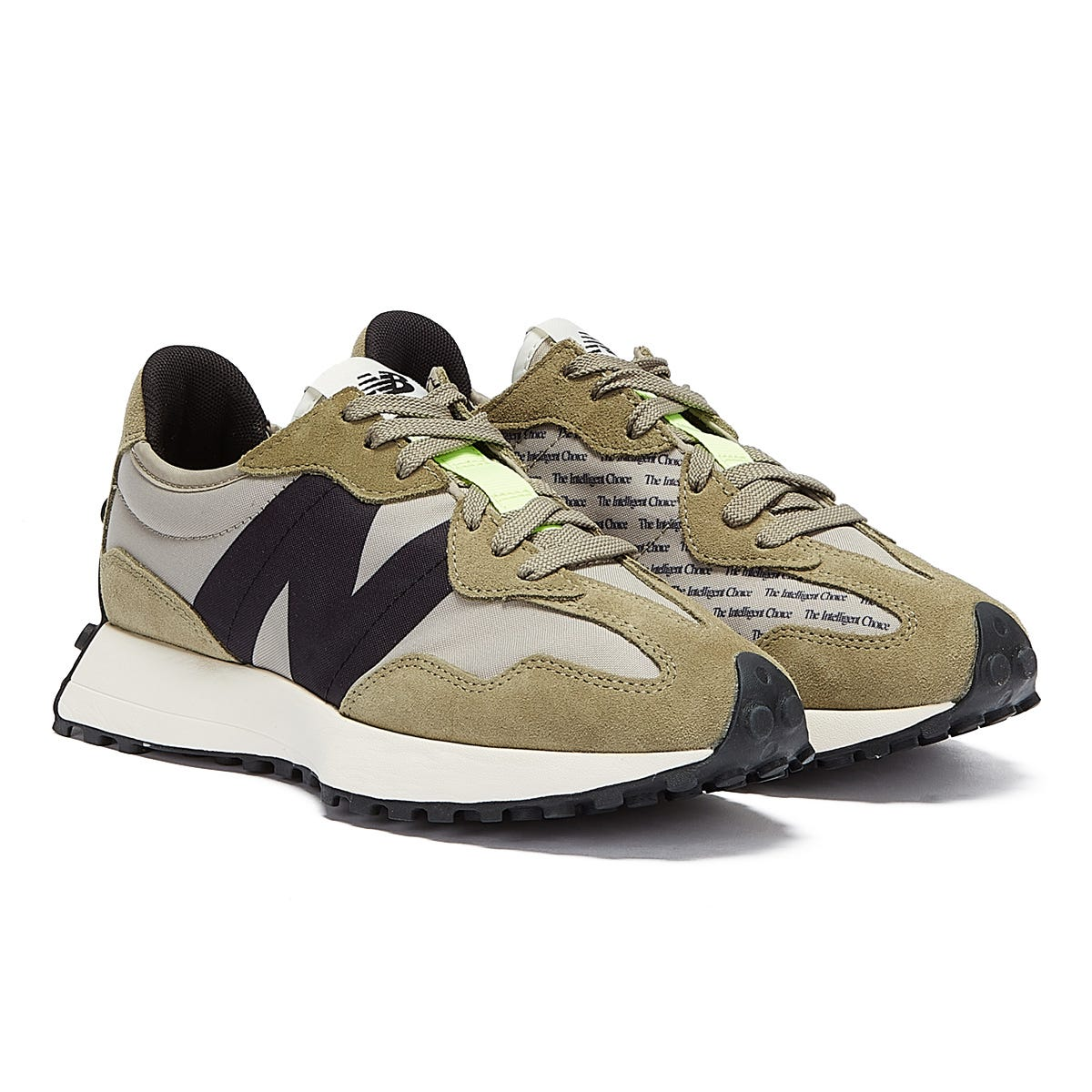 Trainers & Running Shoes New Balance 327 Mens Khaki / Grey Trainers