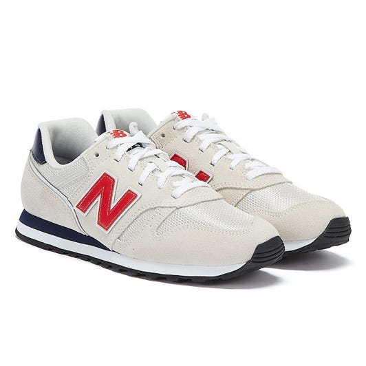 New Balance 373 Mens White / Navy / Red Trainers