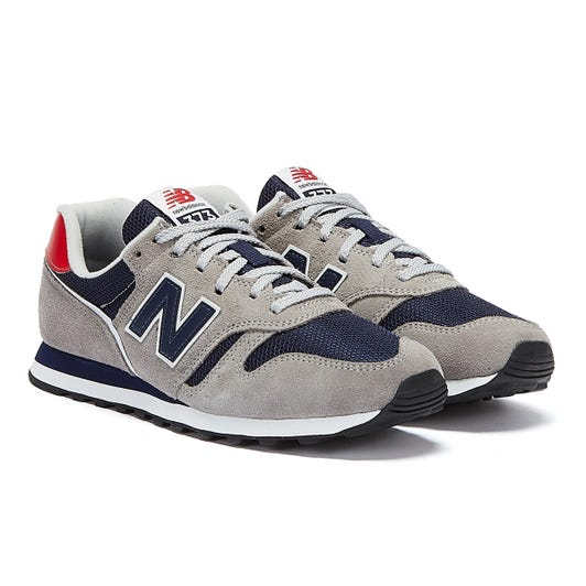 New Balance 373 Mens Grey / Navy / Red Trainers