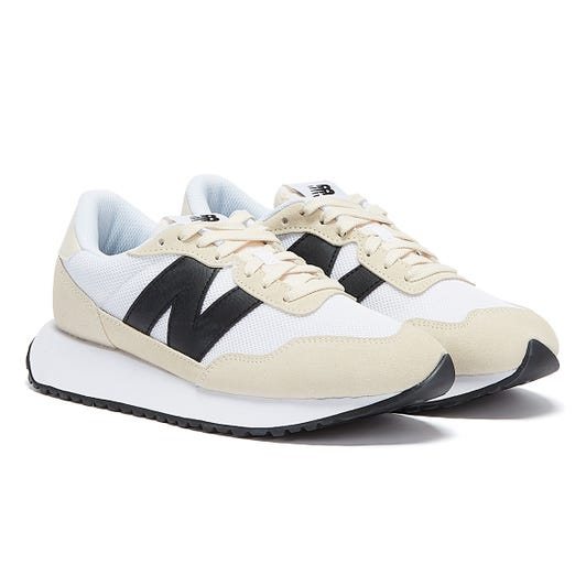 New Balance 237 Mens Off White / Black Trainers