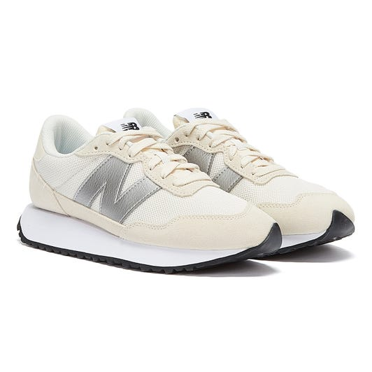 New Balance 237 Womens Off White / Silver Trainers