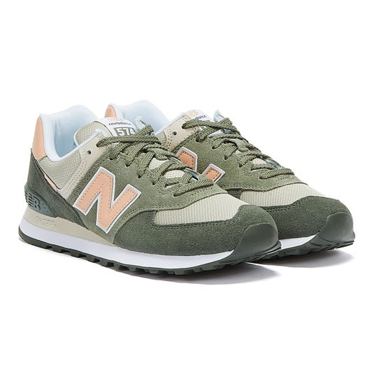 New Balance 574 Womens Black Spruce / Silver Pine Trainers