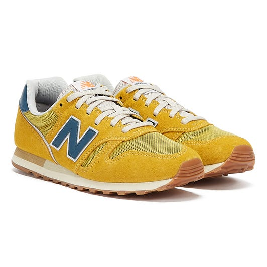 New Balance 373 Mens Yellow / Blue Trainers