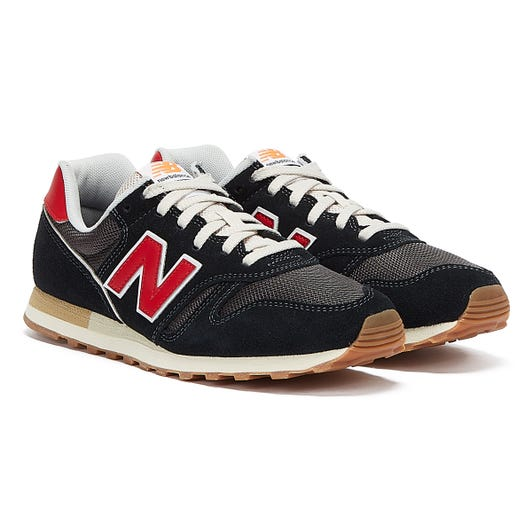 New Balance 373 Mens Black / Red Trainers