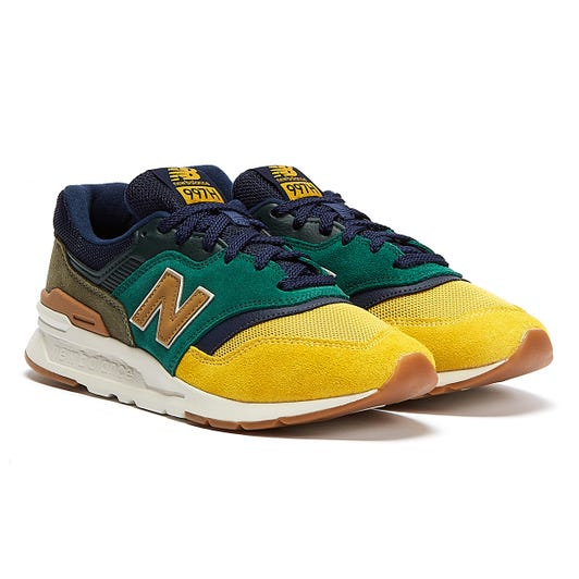 New Balance 997H Mens Green / Yellow Trainers