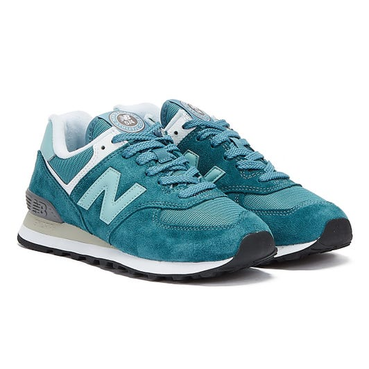 New Balance 574 Womens Teal Trainers