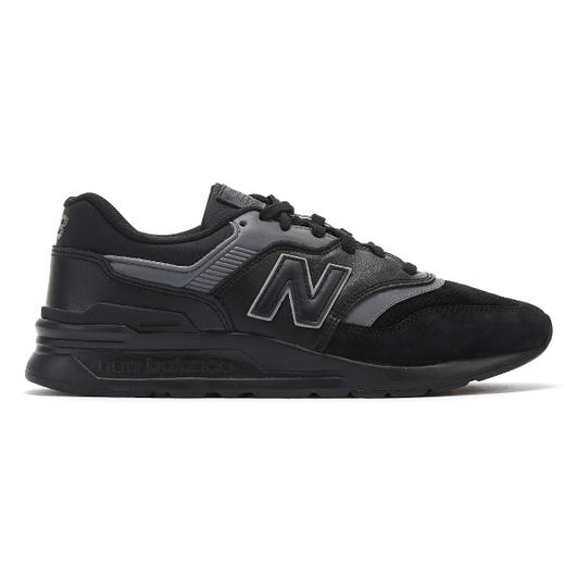 New Balance 997 Mens Black Leather Trainers