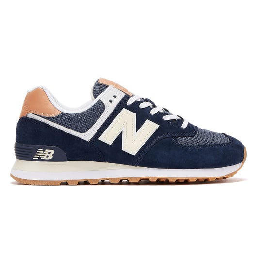 New Balance 574 Mens Navy / Tan Trainers