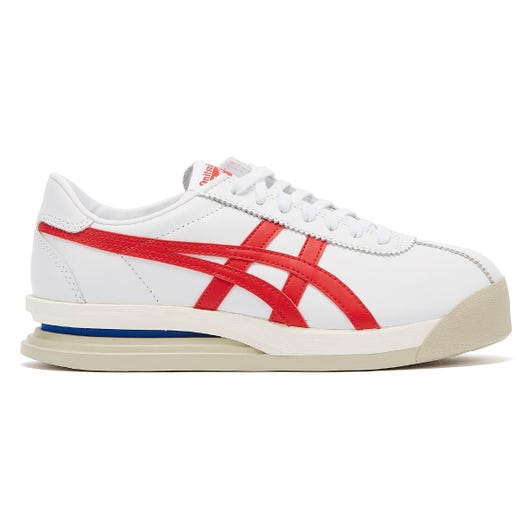Onitsuka Tiger Corsair Ex Leather Mens White / Red Trainers