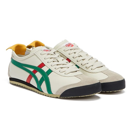 Onitsuka Tiger Mexico 66 Mens Birch Beige / Green Trainers