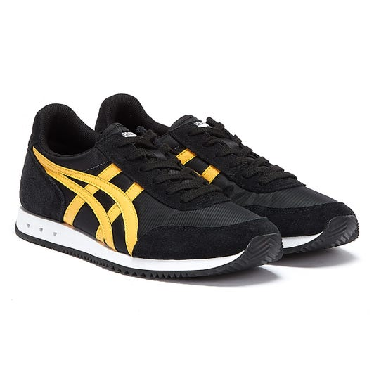 Onitsuka Tiger New York Mens Black / Orange Trainers