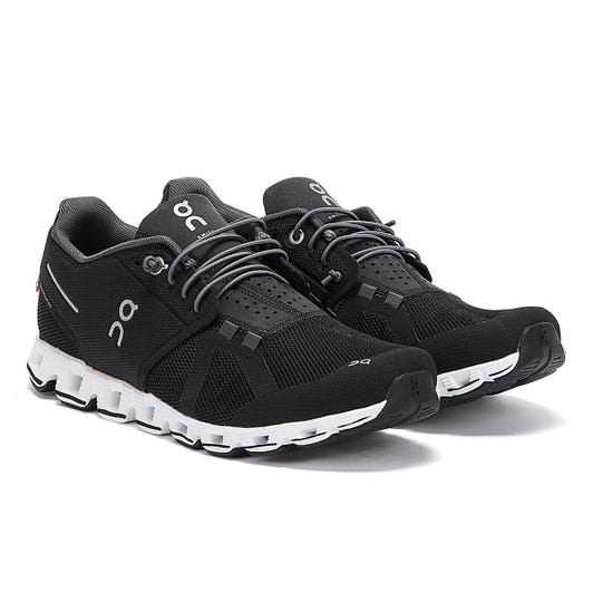 On Running The Cloud Womens Black / White Trainers