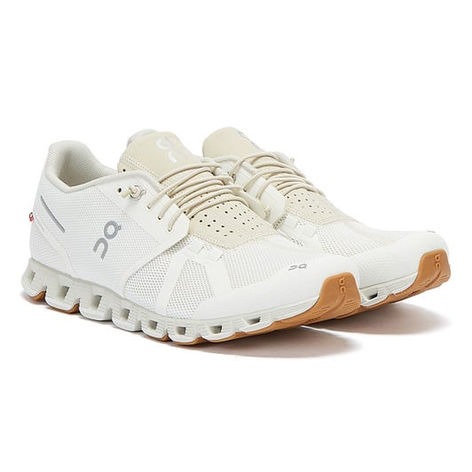 On Running The Cloud Mens White / Beige Trainers