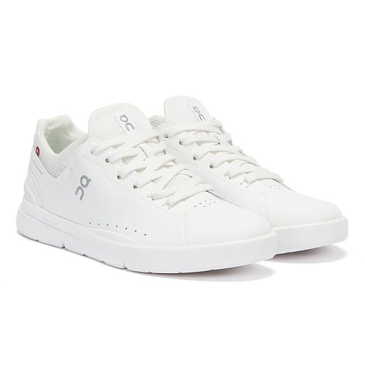 On Running The Roger Advantage Mens All White Trainers