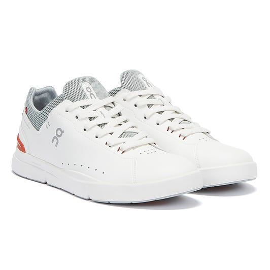 On Running The Roger Advantage Mens White / Flare Trainers