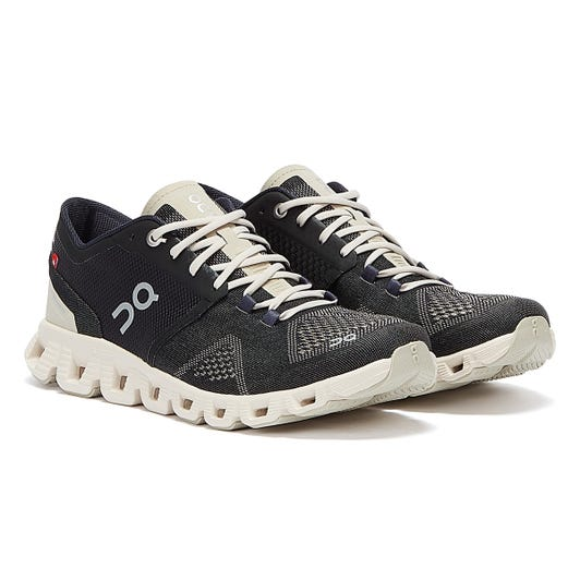 On Running Cloud X Womens Black / Pearl Trainers