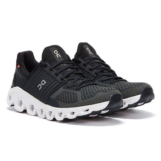On Running Cloudswift Mens Black / Rock Trainers